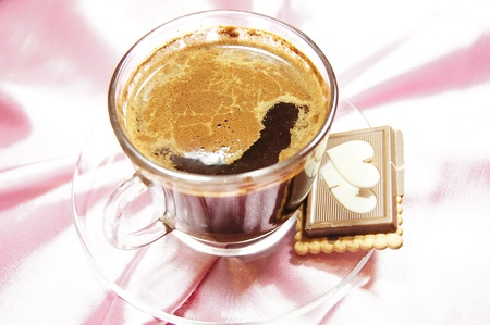 turkish coffee with chocolate cookie  photo