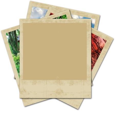 snapshots: holiday photo blank Stock Photo
