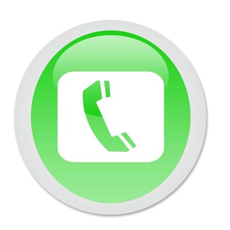 landlines: phone button Stock Photo