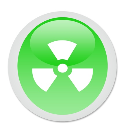 radioactivity button Stock Photo - 12635373
