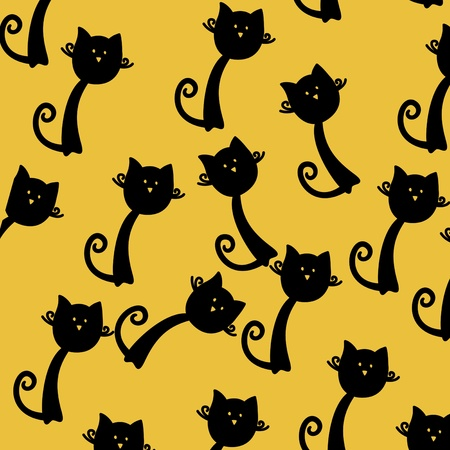 cat seamless pattern photo