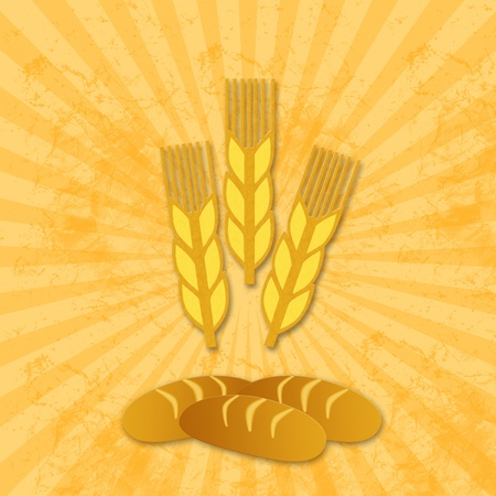 wheat icon and bread photo