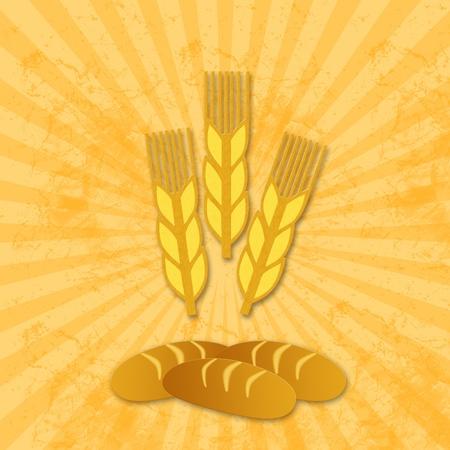wheat icon and bread