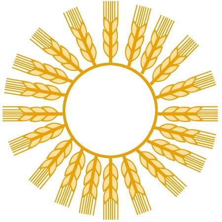 wheat make sun shape