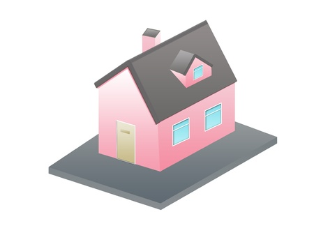 isometric house cartoon house Stock Photo - 13535229
