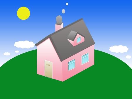 isometric house cartoon house photo