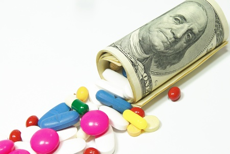 expensive: high costs of expensive medication concept