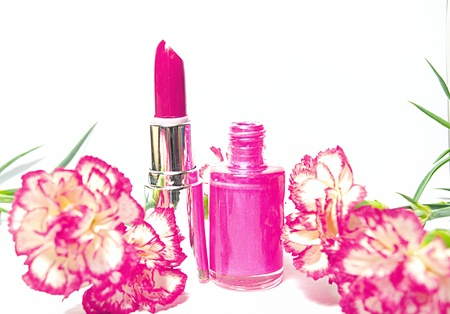 nail polish and lipstick  photo