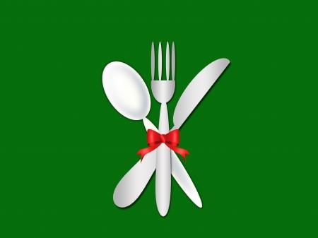 cutlery contemporary pattern- menu  photo