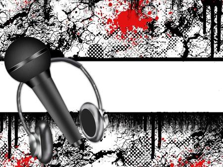 grunge music texture  photo