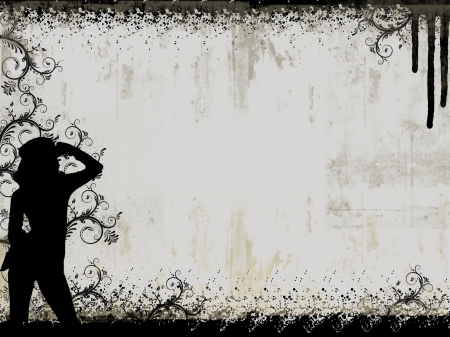 Abstract background with silhouette and faces  photo