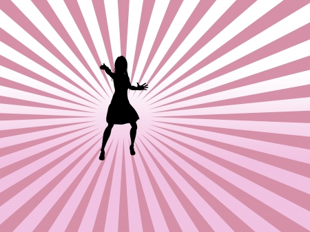 Party People Background - dancing young girl  photo