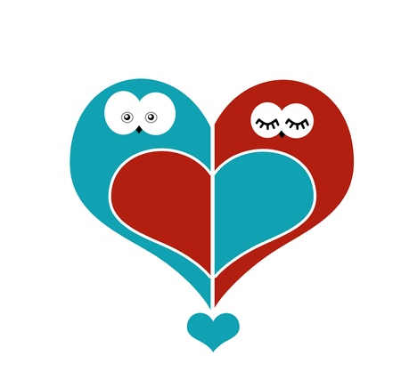 owls in love photo