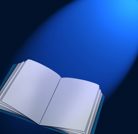 Magic book with lights  photo