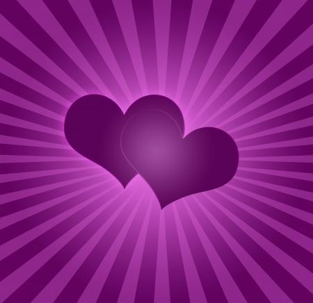 love background with sunburst photo