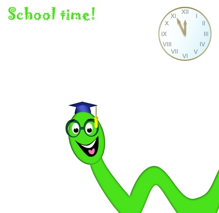 college worm and its school time photo