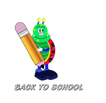 school years: Back to school card