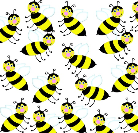 seamless background with bees photo