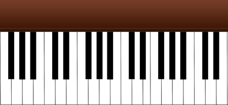 Music text frame piano keys  photo