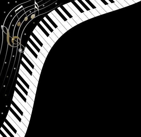 piano keys: Music text frame piano keys