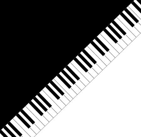 Musica cornice di testo pianoforte chiavi
