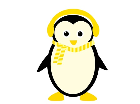 iciness: Funny Penguin illustration