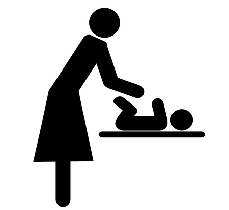 symbol for women , changing babies  diapers photo