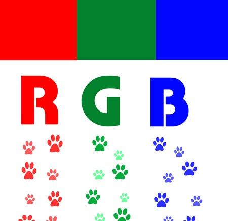 rgb: rgb color paws