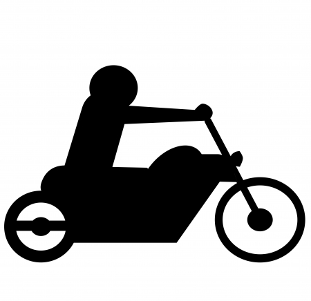 bicycler: isolated bikers with silhouette icon Stock Photo