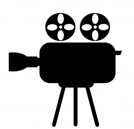 video camera: Video camera icon on a white background Stock Photo
