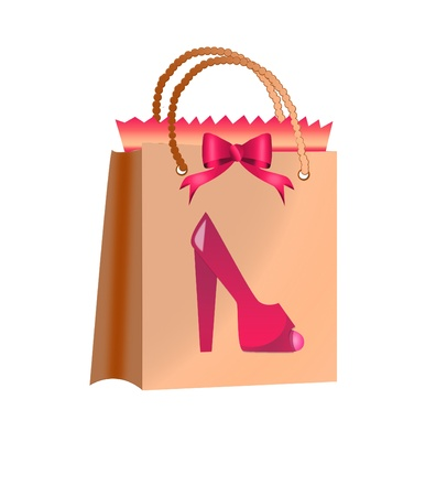 women shoes and shopping bag Stock Photo - 16825096