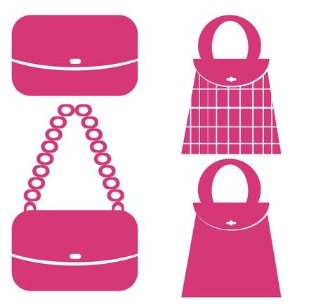 Shopping bag icons set  photo