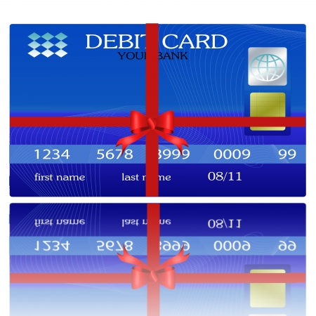 gift credit cards with ribbons  photo
