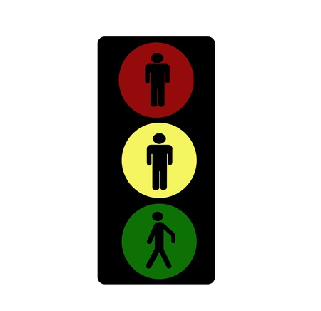 Traffic lights icon photo