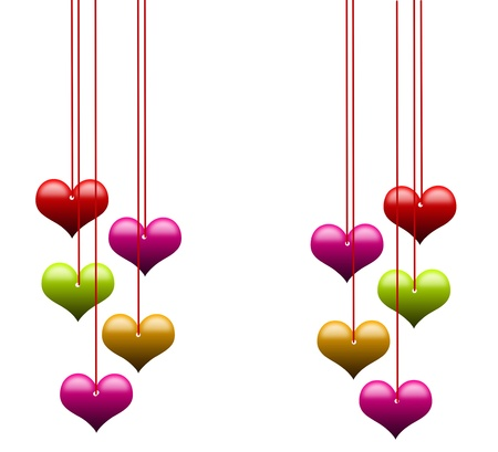 Love background with hearts Stock Photo - 17515809