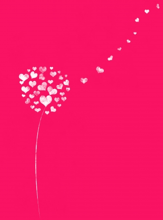Love background with hearts tree and place for text photo
