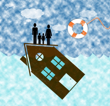 the occupant: mortgage on the house help Stock Photo