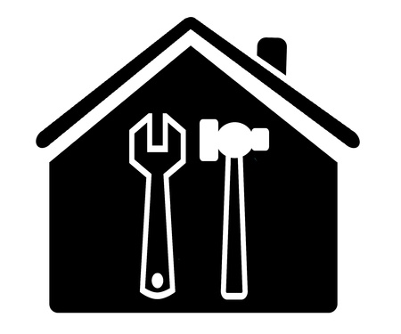 housewarming: House with tools