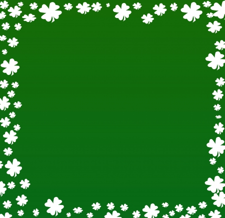 irish christmas: Patrick Day With Clower Grunge Greetings