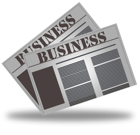 current events: newspaper icon, business news