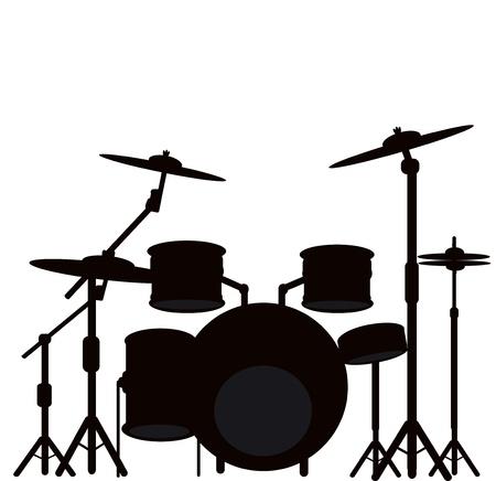 illustration of a drum kit  Imagens