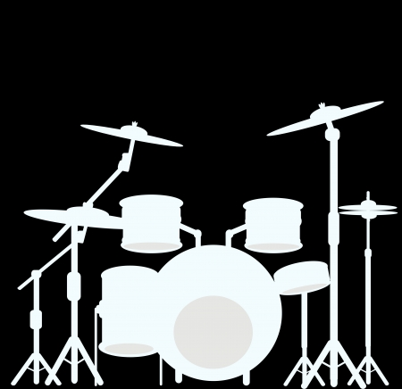 snare: illustration of a drum kit  Stock Photo