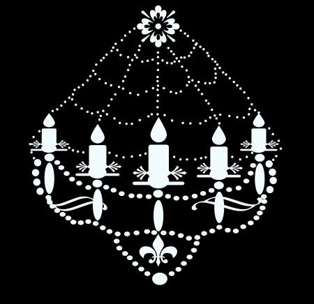 illustration of chandelier illustration