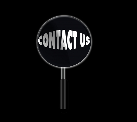 contact us under magnifying glass photo