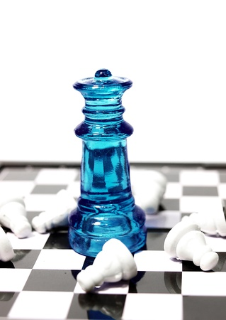 chess made of glass photo