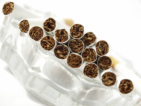 danger of smoking,Close-up of cigarettes photo