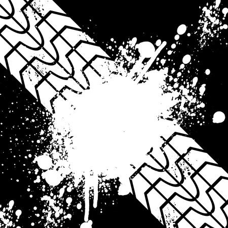 Black tire track banner Stock Photo - 19812014