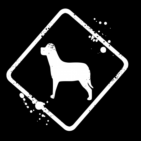 pointy ears: sign-silhouette of the dog Stock Photo
