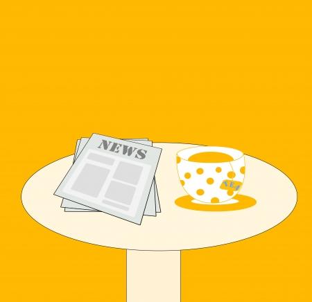 tabloid: news and tea on the table