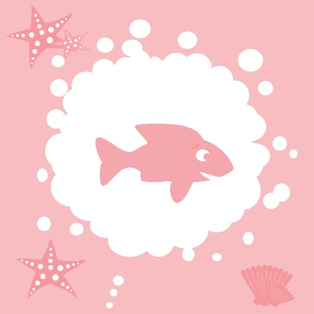 marina life: fish icon